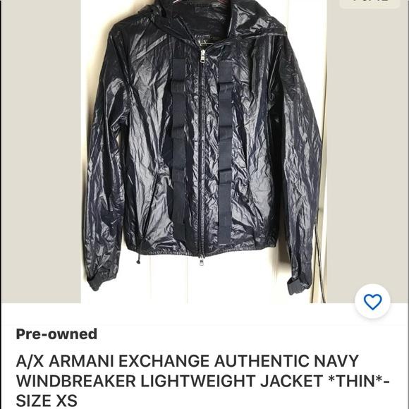 Armani Exchange Other - Ax ARMANI EXCHANGE NAVY WINDBREAKER JACKET XS